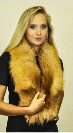 Golden fox fur scarf